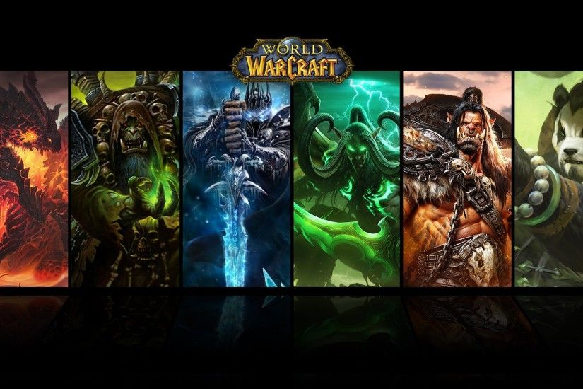 General 1920x1080 World of Warcraft Deathwing Arthas Gul'dan Illidan  Stormrage grommash hellscream Warcraft collage