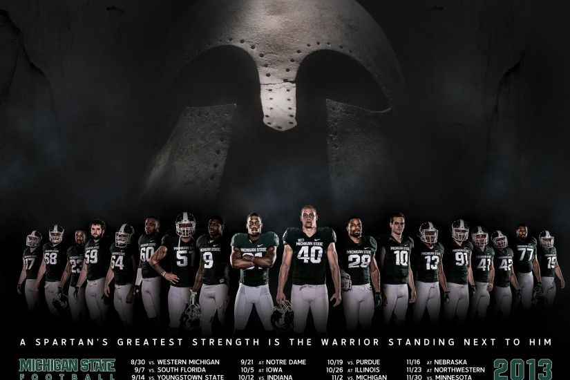 A Spartan's Greatest Strength is the Warrior Standing Next to Him - MSU  Football, 2013 Big Ten Champions