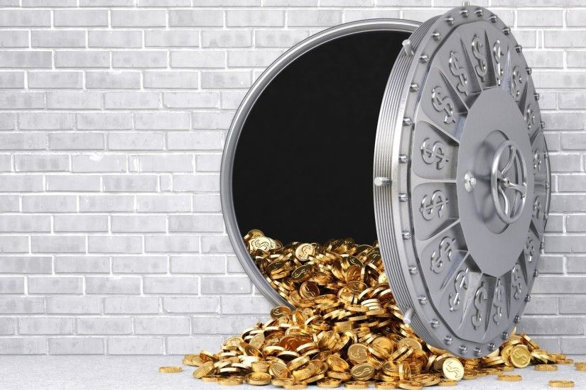 Gold Coins Safe wallpapers and stock photos