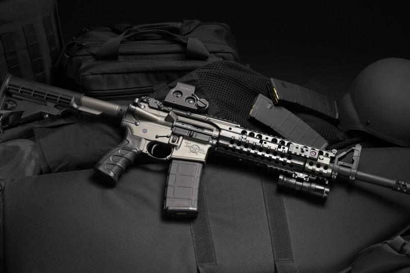 Wallpapers :: rifles, weapons, Magpul, eotech, AR-15, Surefire