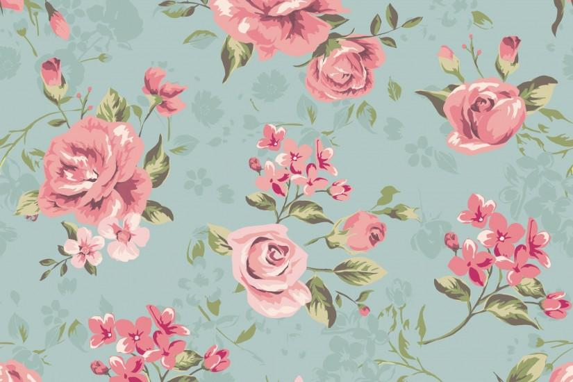 classic wallpaper seamless vintage flower pattern background [Om