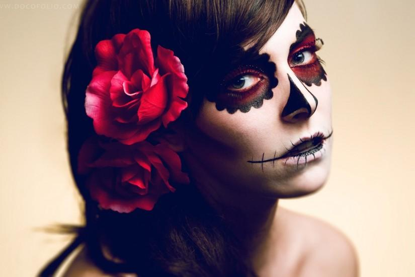 Sugar Skull Makeup Wallpaper 396154