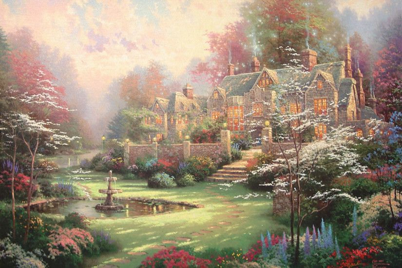 Free Thomas Kinkade Wallpapers For Desktop - Wallpaper Cave .
