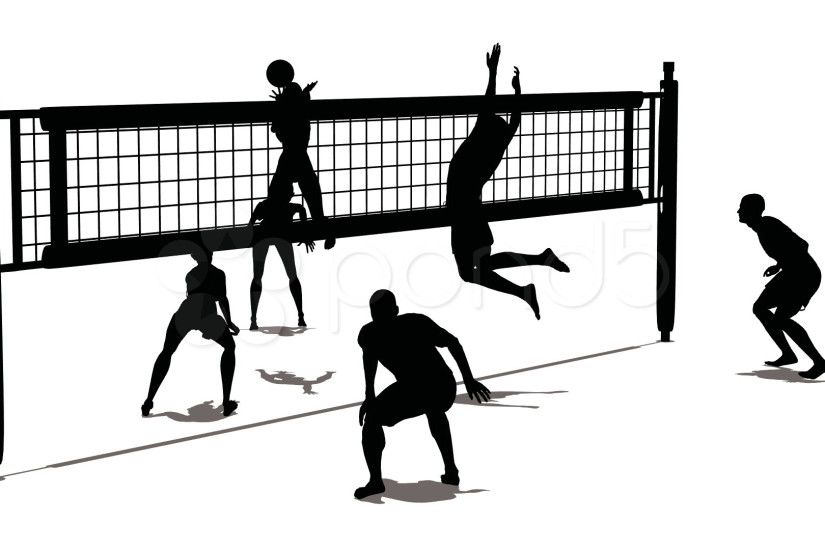 Clipart volleyball court collection