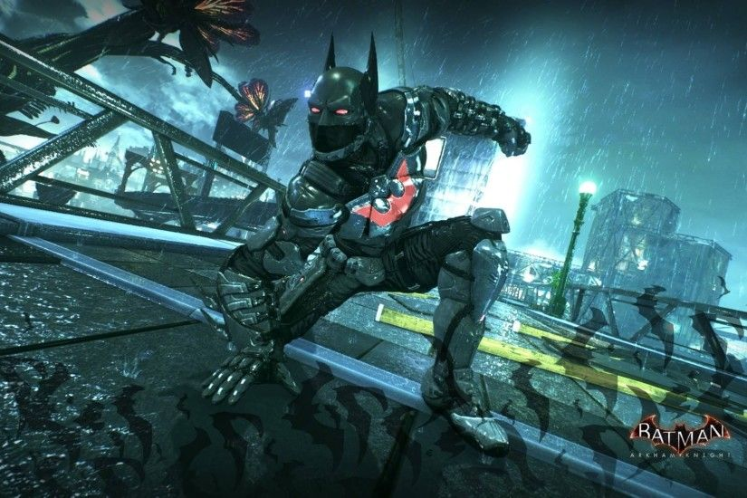 Batman: Arkham Knight, Batman Beyond 2039 style skin showcase .