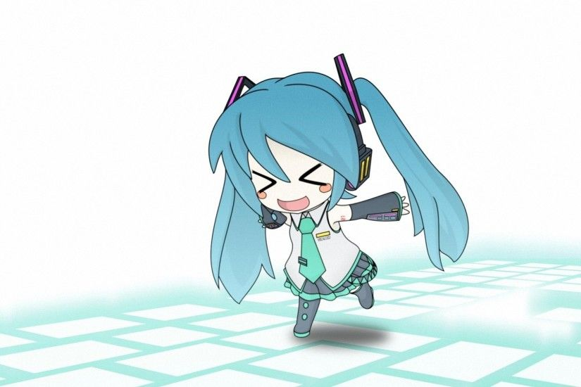 cute chibi miku anime girl HD wallpapers