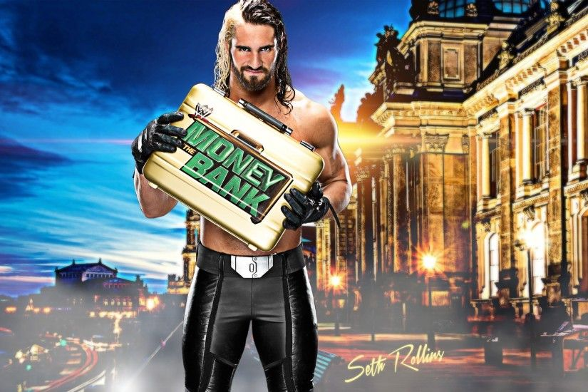 Latest WWE Seth Rollins hd wallpapers. Money Bank Champion Seth Rollins