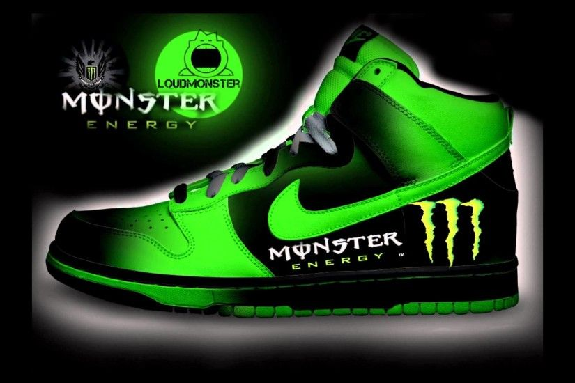 My custom designed nikeshoes | Redbull | Monster Energy | Nike