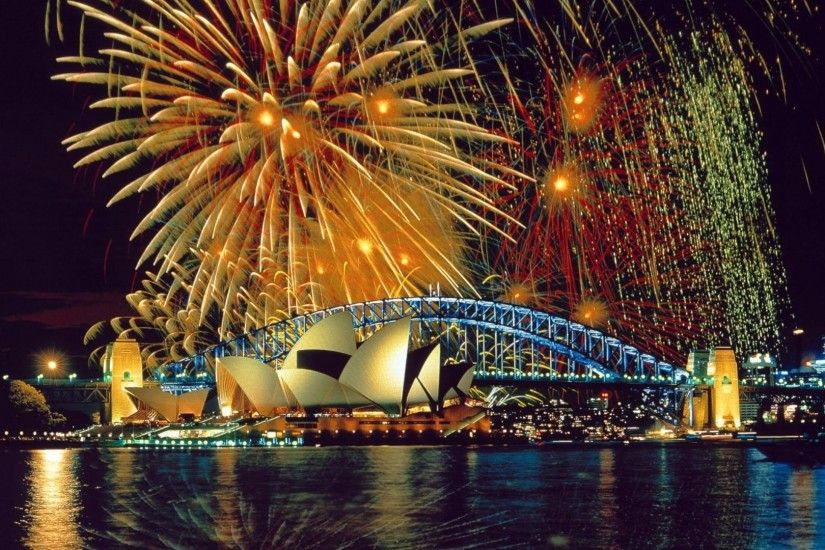 Preview wallpaper sydney, fireworks, opera, theater, river 1920x1080