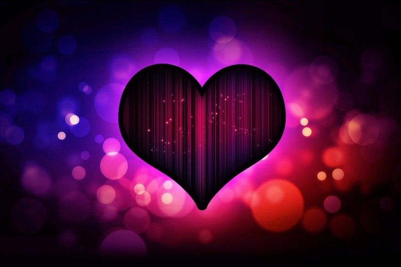 Valentine Love Heart for Background HD Wallpaper