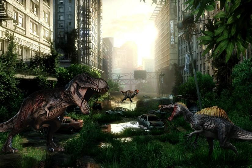 ... The Age of Dinosaurs (background) by cursedblade1337