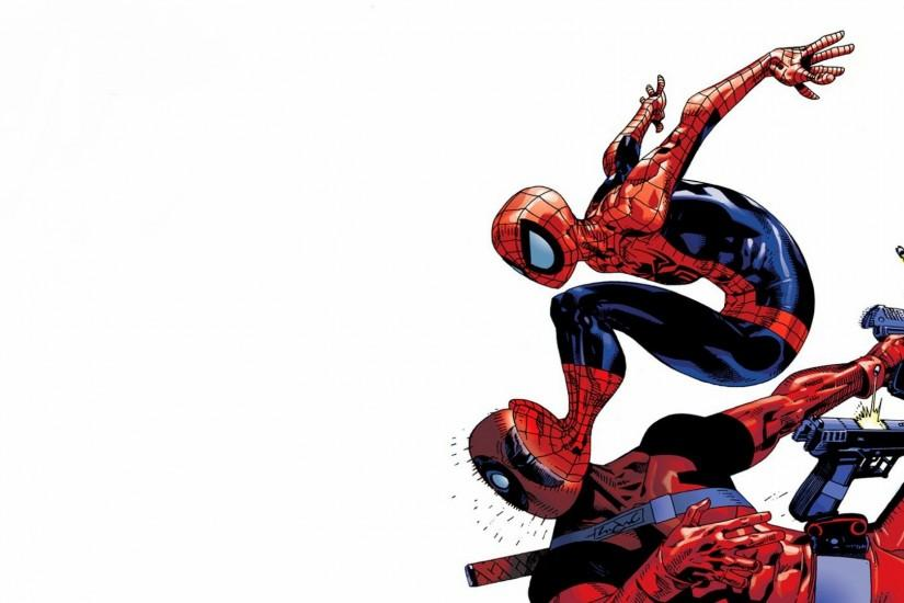 Spider Man, Deadpool Wallpaper HD