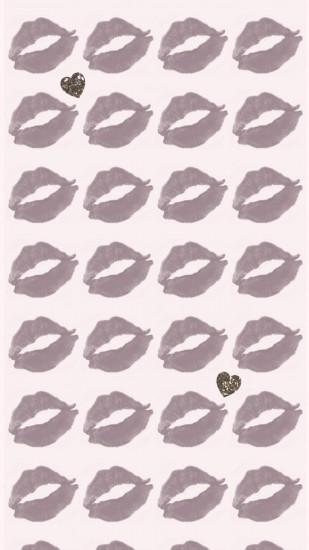 Wallpaper, background, iPhone, Android, HD, lips, kiss, pattern,