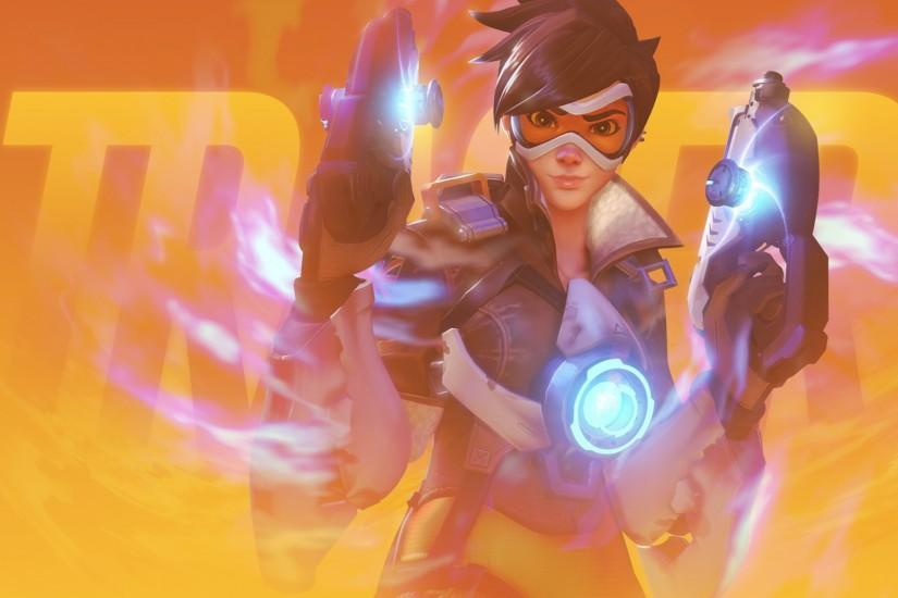 overwatch tracer wallpaper 1920x1080 high resolution