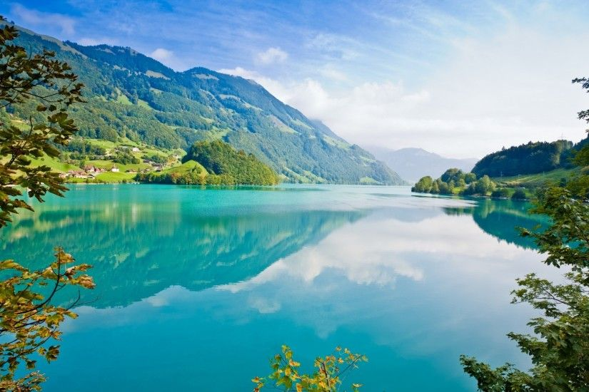 NATURE MOUNTAIN LANDSCAPE LAKE WATER BODIES 2 DESKTOP BACKGROUND . ...
