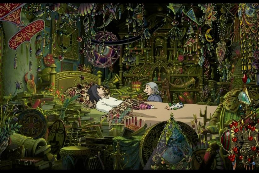 A scene from Howl's Moving Castle, a Studio Ghibli/Hayao Miyazaki film. SO  much amazing detail.- i'm thinking my room will look like this one day :D