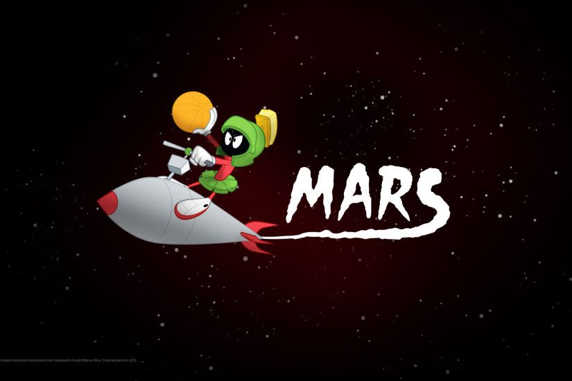 Marvin the Martian on spaceship headed to Mars with basketball desktop  wallpaper - Jordan