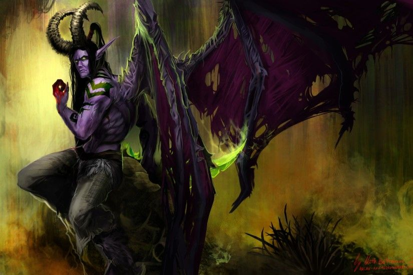 Video Game - Warcraft Illidan Stormrage Wallpaper