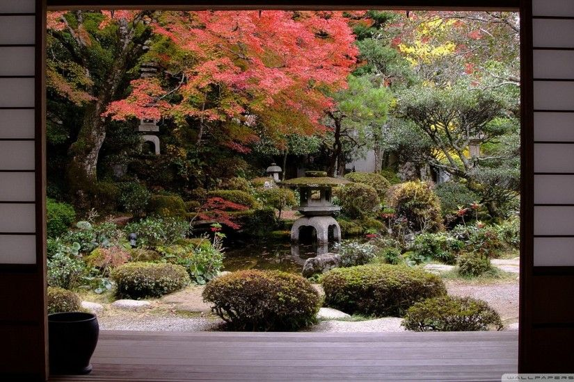 traditional japanese garden hd desktop wallpaper : high definition