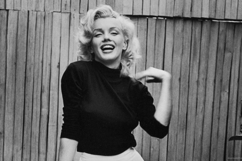 Marilyn Monroe Black Turtleneck for 1920x1080