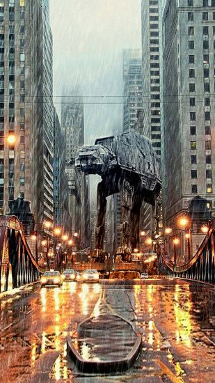 AT-AT in Chicago Htc One M8 wallpaper