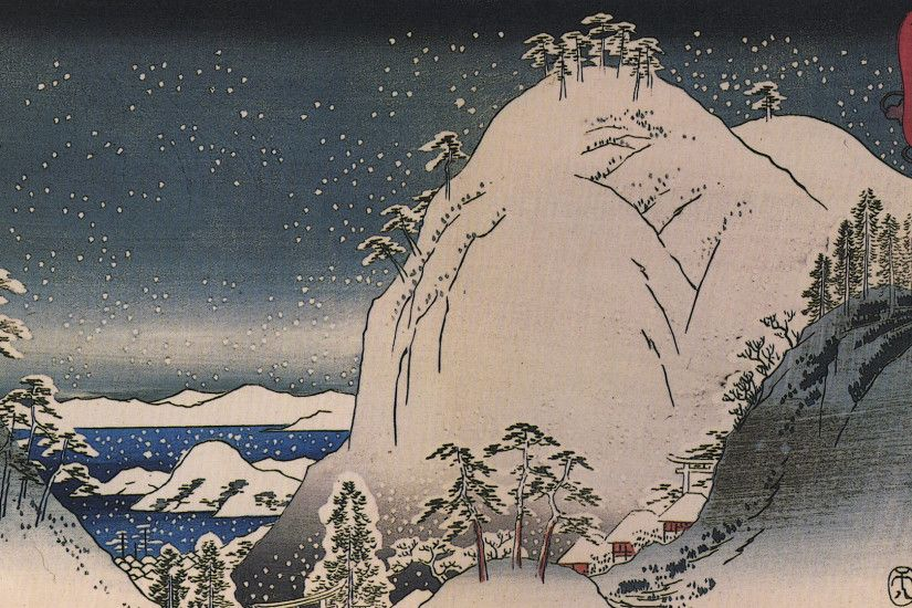 "Photo 16 Nov 9 notes · ""Shrines in snowy mountains"" by Hiroshige Utagawa. """