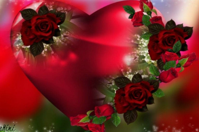 Valentine Tag - Heart Flower Valentine Beautiful Romantic Roses Pretty Red  Love Flowers Wallpapers New for