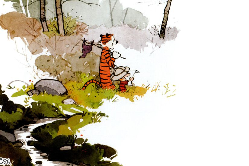 Calvin and Hobbes is always worth reading. Watterson created real art using  the watercolors when every other comic artist was using paint by colors.