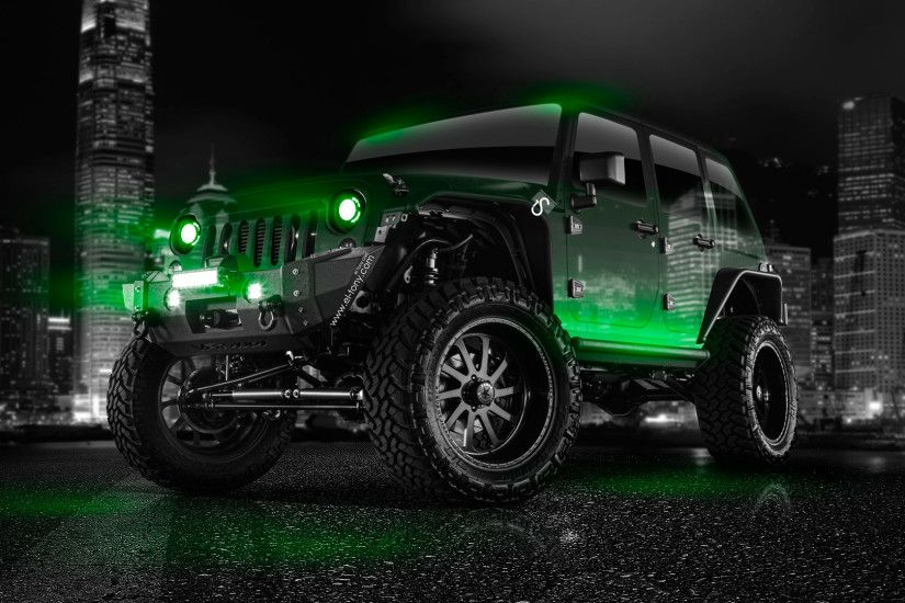 ... Jeep-Wrangler-Crystal-City-Car-2014-Green-Neon- ...