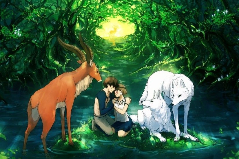 Princess Mononoke Anime Wolf Anime Girls Wallpapers HD