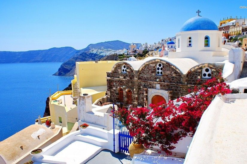 Pictures of Santorini Greece Wallpaper - WallpaperSafari