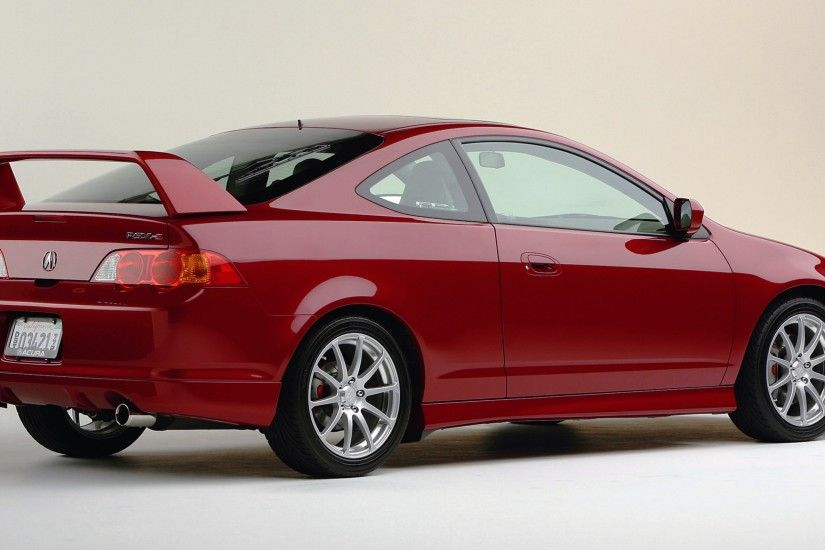 3840x2160 Wallpaper acura, rsx, 2003, red, rear view, style, car