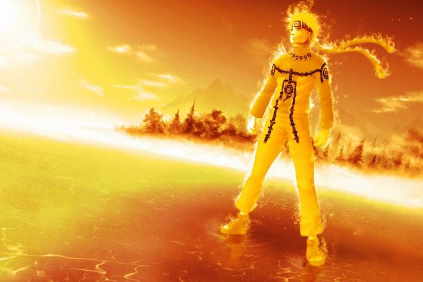 naruto 9 tails chakra mode hd wallpaper anime 1920x1200 a421.