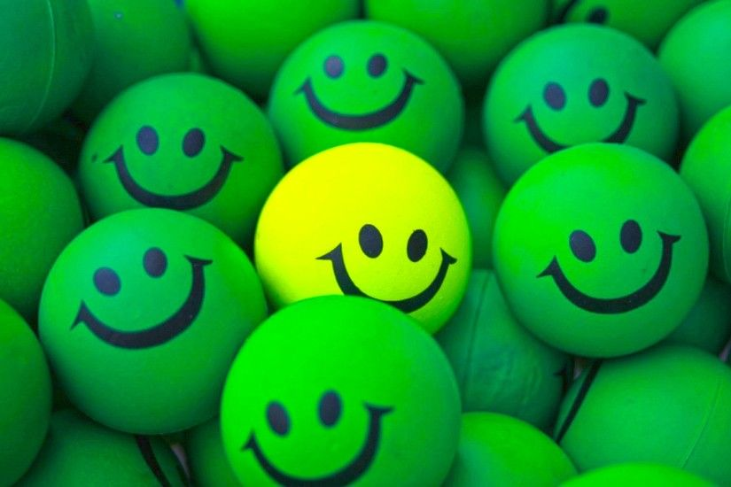 Smiley Balls Android 3D Wallpaper