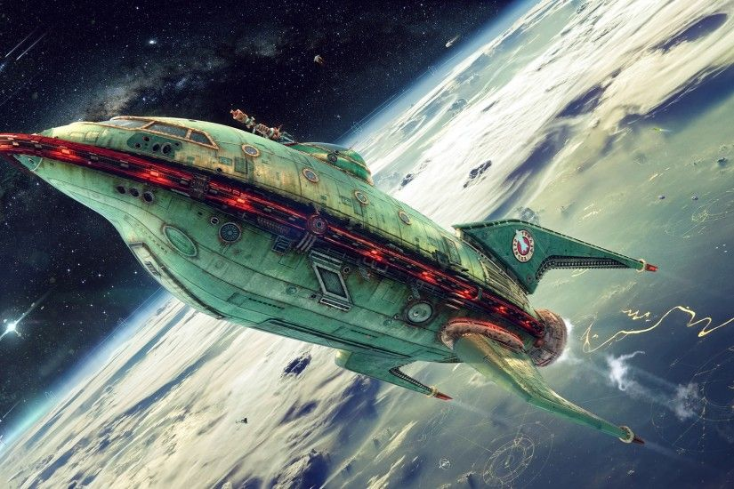 planet Express, Futurama, Spaceship Wallpapers HD / Desktop and Mobile  Backgrounds
