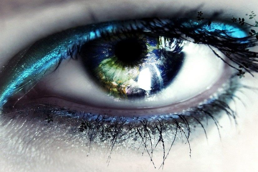 Abstract Eyes HD free wallpaper -for -desktop