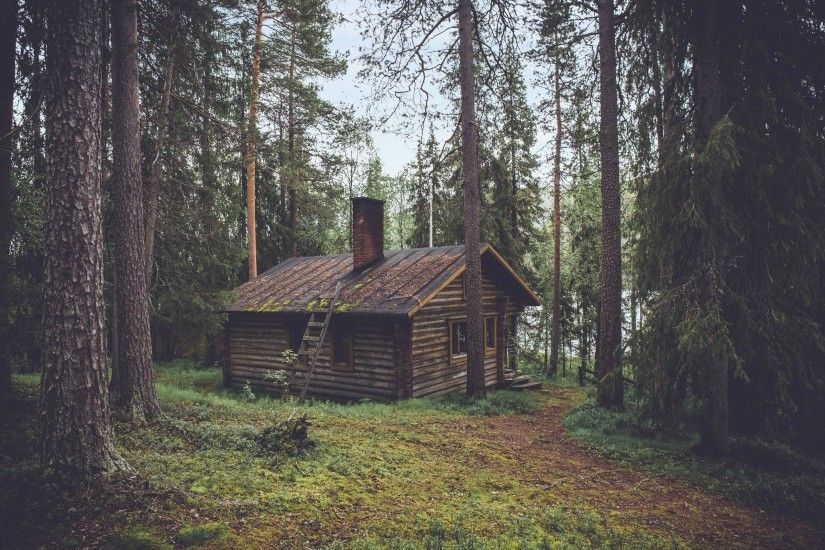 Free image of wood, logs, cabin