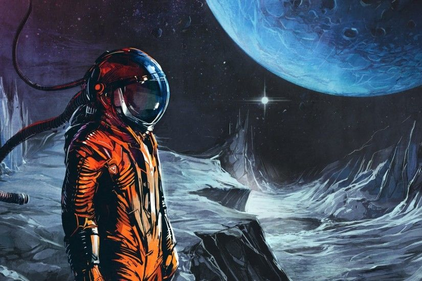 General 1920x1080 artwork space space suit astronaut science fiction space  art Klayton