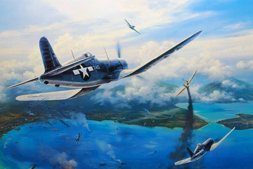 nicolas trudgian vought f4u corsair picture art