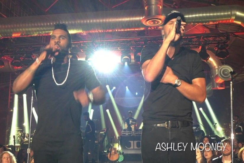 WATCH: Luke Bryan and Jason Derulo hit the high notes in '