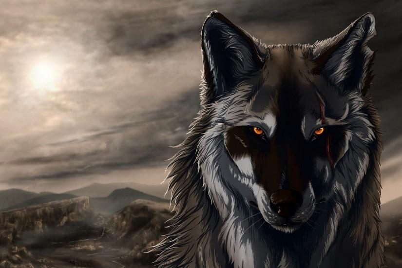 free download wolf background 2560x1600