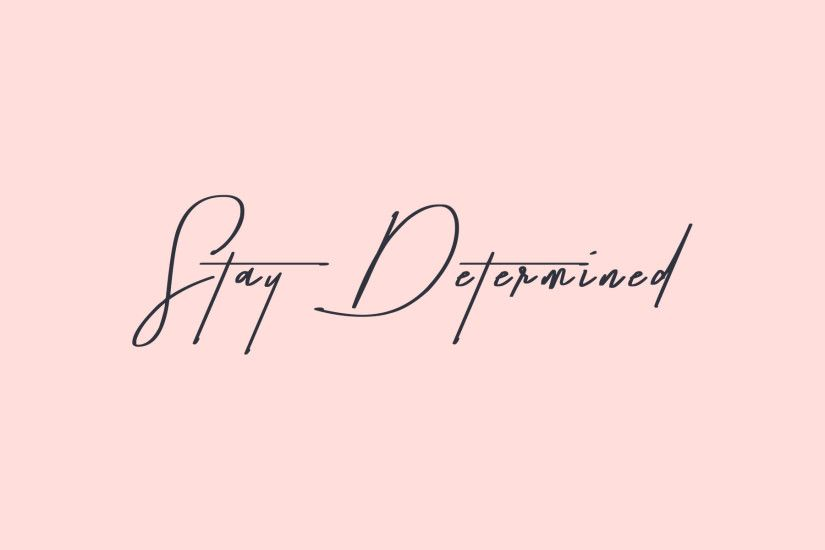 Keep yourself motivated with this cute pink + navy desktop wallpaper by