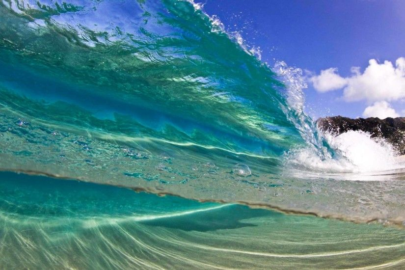 Hawaii Wave Desktop Wallpaper