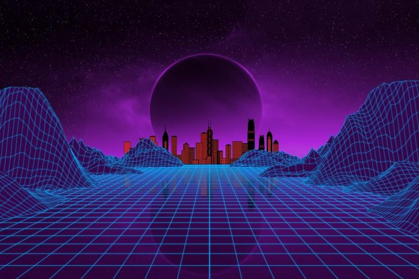 new synthwave wallpaper 1920x1080 computer