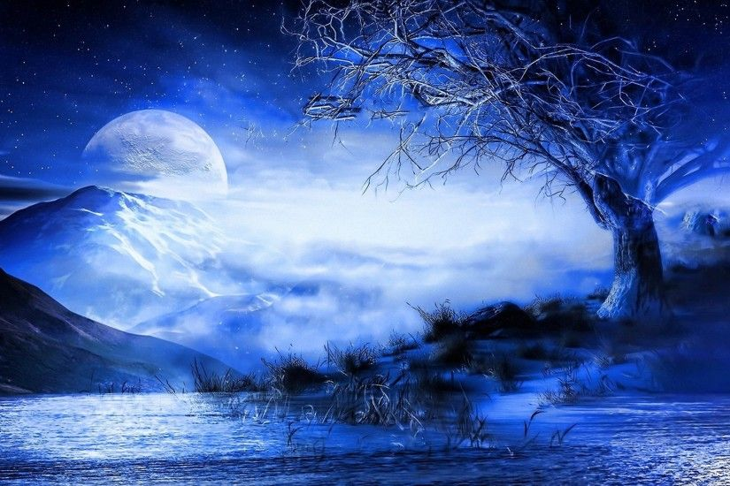 Anime Blue Moon Wallpaper HD And Wallpapers Full HD Archived at | HD  Wallpapers | Pinterest | Blue moon, Hd wallpaper and Wallpaper