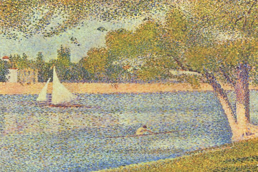 Georges seurat wallpapers background painting art wallpaper
