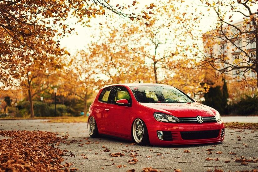 Volkswagen, Stance, Fall, Golf GTI, Golf VI Wallpapers HD / Desktop and  Mobile Backgrounds