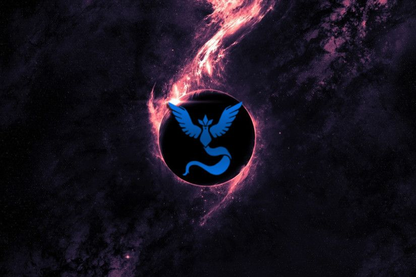 General 1920x1080 Pokemon Go Team Mystic space blue