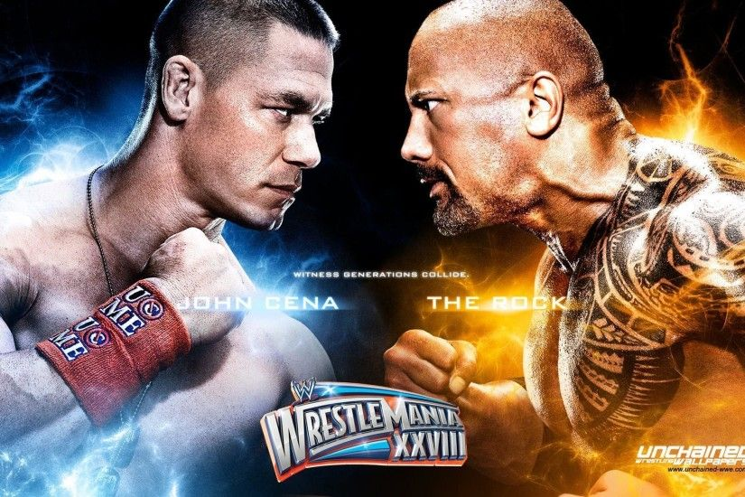 Unchained WWE Wrestling Wallpapers Rock vs John Cena HD Wallpaper