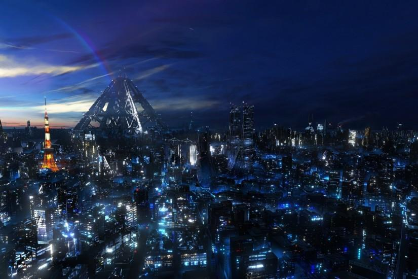 Anime City Wallpaper High Quality Resolution Free Download Wallpapers  Background 1920x1080 px 451.92 KB Anime Music